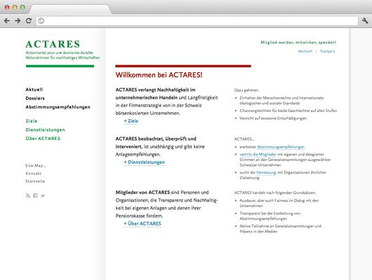 ACTARES –AktionärInnen für nachhaltiges Wirtschaften