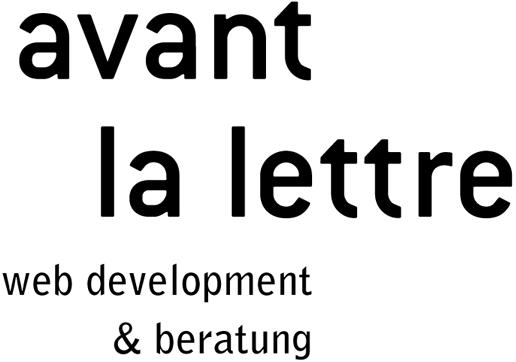 avant la lettre / Web Development & Beratung